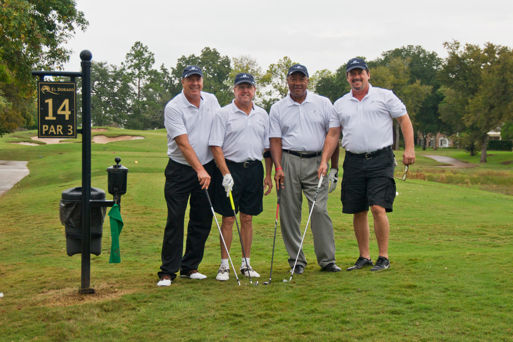 MAYOR'S TEAM OF ANTHONY FRANCIS, MAYOR ALLEN OWEN, FRANK GRACELY, AND DOUG CALLAME AT FORT BEND CHAMBER CHALLENGE 2013